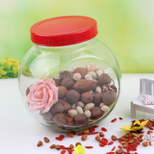 2850ml glass storage jars food container with plastic lid wholesale