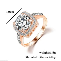 Wedding Bride Cubic Zirconia Crystal Bands Ring Nail Jewelry Accessory