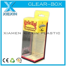new clear packaging box with hanger