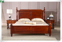 high quality luxury wooden bed designs pictures