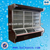 Good display effect open chiller with colorful lights