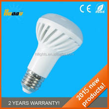 Factory wholesale led e14/e27 base smd bulb r63 light 180 degree 7w ra80 ,e27 r63 led