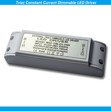CE SAA RoHS passed no noise no flicker constant current triac dimmable led driver 30W 700ma