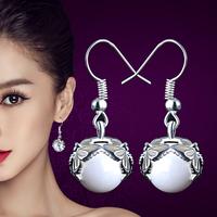 Factory cheap wholesale 2015 drop hanging pearl earrings