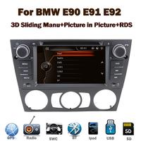 "7"" HD Capacitive Touch Screen Car radio DVD GPS for BMW E90 E91 E92 3G Bluetooth Radio USB IPOD Steering wheel control Canbus"