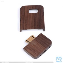 Precision carved cell phone wood cases for samsung galaxy s6 engraved your logo