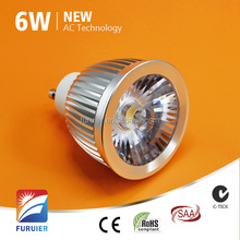 AC240v dia 50mm 24 degrees beam 4000k dimmable gu10 led 6w day white