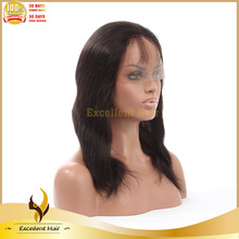 Free shipping qingdao full lace wig virgin Brazilian full lace wig bone straight in natural brown