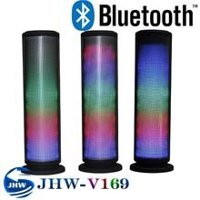 Kingwon 2015 new mini stereo bluetooth speaker with led light, wireless bluetooth speaker has flashed disco light
