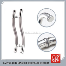 2015 Hot style stainless steel material glass and wood door handle