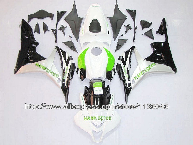 100%Fit Injection Green white black Fairing kits for HONDA CBR600RR 07 08 F5 2007 2008 CBR 600 RR 07 08 2007 2008 fairings #56jk