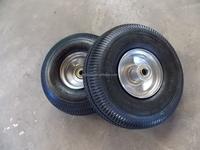 Garden cart wheels 3.50-4 with steel rim
