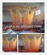 Promotional inflatable crown