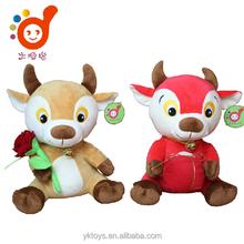 Loving cattle couple cheap stuffed plush ox toys plush animal toys stuffed toys patterns