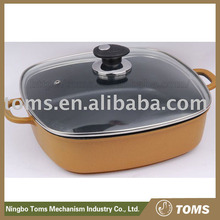 High quality Die Cast Aluminium Square Dry Fry pan