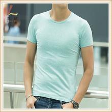 Prue color95%cotton 5% elastane design your own organic cotton t shirt