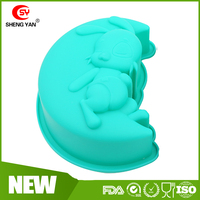 New product 2016 3d animal shape non stick food grade DIY silicone molds