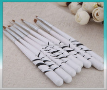 2015 hot 8 PCS zebra makeup brush set for nail