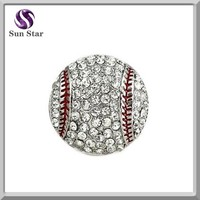 925 sterling silver rhinestone baseball charm hobby charms wholesale