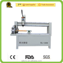 Private custom!QL 2.2kw water cooling spindle stone/wood/meta cnc router with rotary