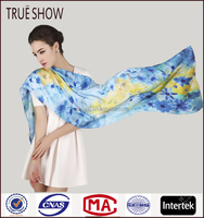 Hot fashionable 100% silk long scarf