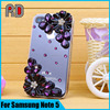 Factory price wholesale clear PC back hard case for samsung note 5, clear back with diamond phone case for samsung note5