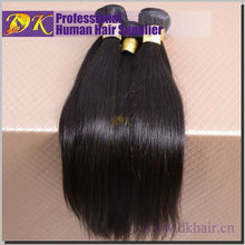 DK No tangle no shedding double drawn top quality nature color 100% peruvian human hair