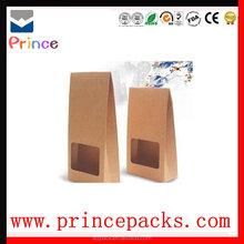 High grade Window kraft stand up zippper pouch/Brown kraft paper bags/Dried food packaging