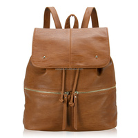 Free shipping VEEVAN 2015 new fashion design women leather backpack