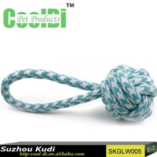 Popular design dog toys rope ball dog toy knot rope dog chew toy