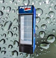 Sanye single-door pepsi beverage display cooler with wheels