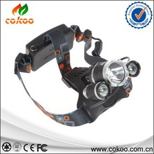 3T6 Headlamp 6000 Lumens T6 Head Lamp High Power LED Headlamp Head Torch Lamp Flashlight Head +charger+car charger