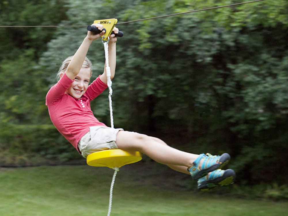 wholesale kids backyard zip line cable trolley pulley is