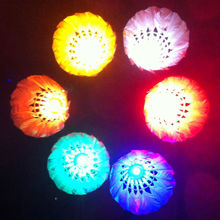 alibaba express colorful badmintons for promotional gifts fashing badminton for night funny LED badminton