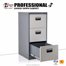 Office furniture 3 drawer metal file cabinet for sale