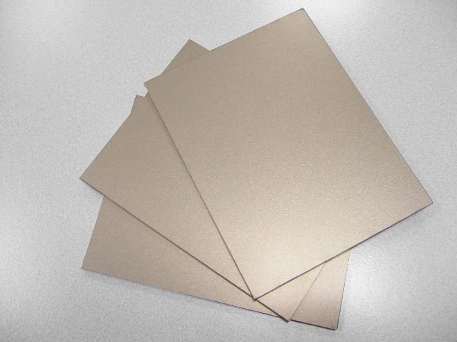 Brushed Aluminum Composite Panel : Silver brushed aluminum plastic composite panel
