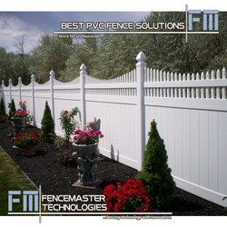 pvc decorative flower garden fencing