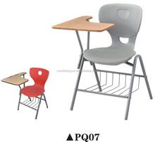 modern high quality colorful plastic steel furniture training chair PQ07