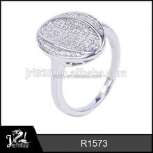 Wholesale Crystal piercing gun 925 silver ring zircon