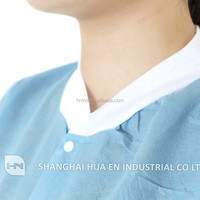 Disposable latex free SMS lab coat anti-static visitor gown visitor coat