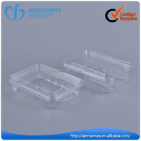 Hot selling transparent plastic attached-lid storage containers for catering food