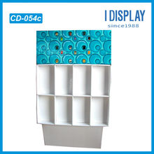 Wallet paper counter display stand with pockets for store retail