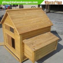 Wood house style chicken coop design