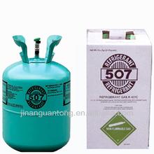CE/DOT/KGS 11.3kg/cylinder green mixed gaz r-507c refrigerant gas
