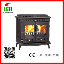 classic CE cast iron freestanding wood burning fireplace