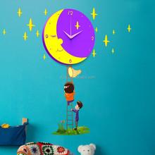Hot Time Children Handmade Wall Clock 3D DIY Sticker Clock for Wall