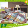 european style colorful fabric cotton bedsheet