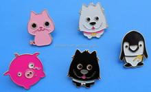 enamel animal metal lapel pin