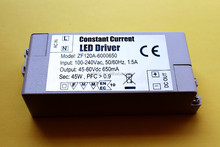 IP20 45-60V 650mA constant current led driver power supply