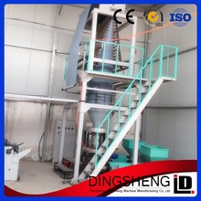 Co extrusion courier bag film blowing machines with single rewinding unit